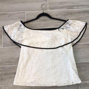 Lace off the shoulder blouse